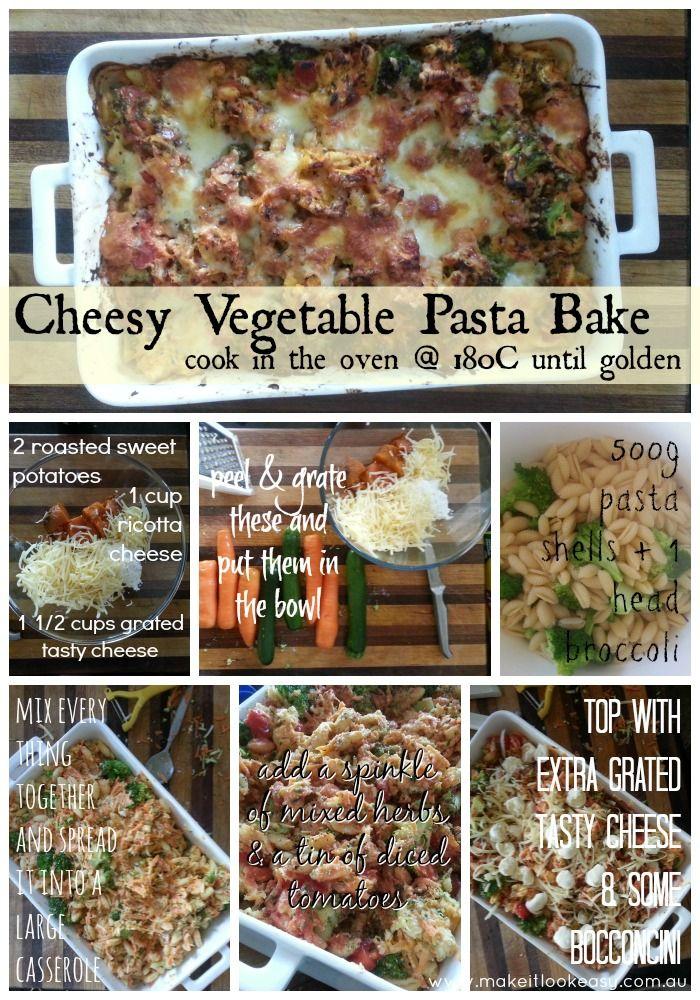 Cheese & Vegetable Pasta Bake #vegetarian #easymeals