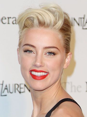 """Amber Heard  """" she looks like a young Lauren Bacall   a classic Hollywood movie star""""  said Johnny Depp"""