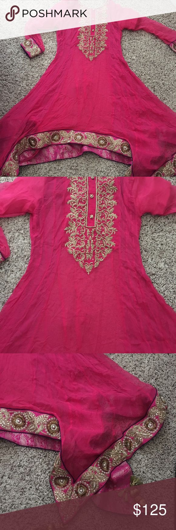 Shalwar Kameez Beautiful 4 piece outfit. Worn once. Chest size is 32. Please message with any questions. Dresses