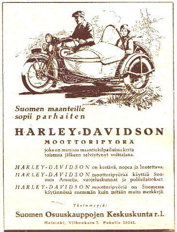 Harley Davidson -mainos/1925