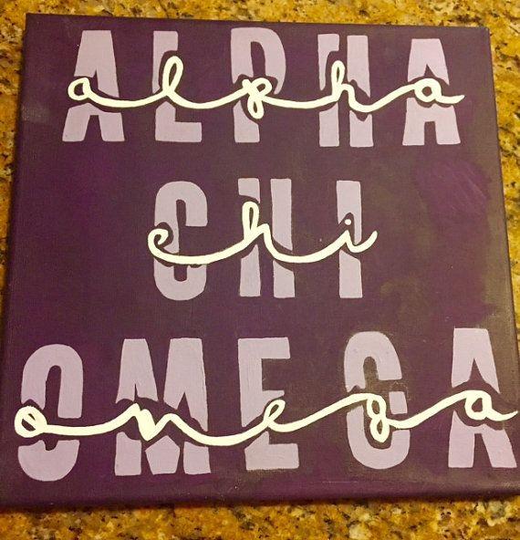 Alpha Chi Omega Canvas Customizable by CustomCraftsbyCourt on Etsy