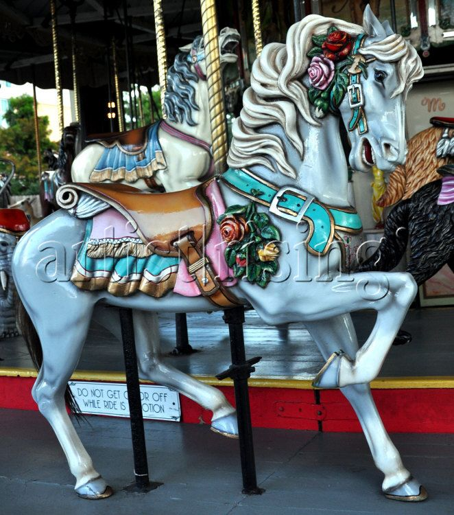The Majestic Grey Carousel Horse  (by artzfolk)