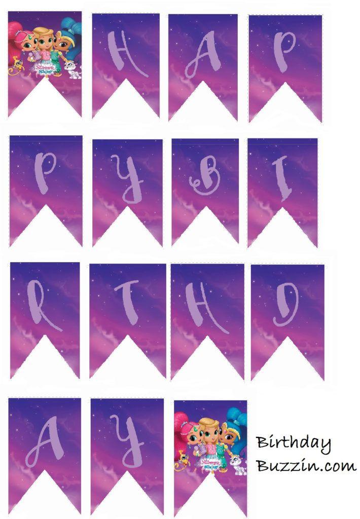 Free Printable Shimmer And Shine Birthday Banner Kaylyn