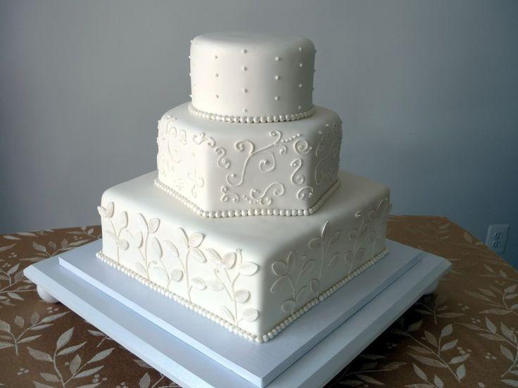 the 25 best hexagon wedding cake ideas on pinterest black