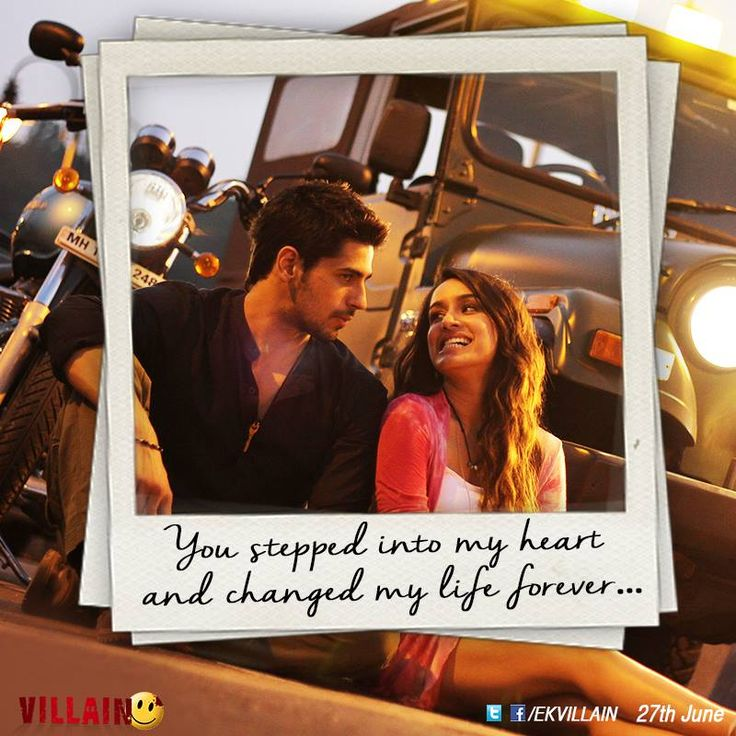 You stepped into my heart and changed my life forever... #EkVillain