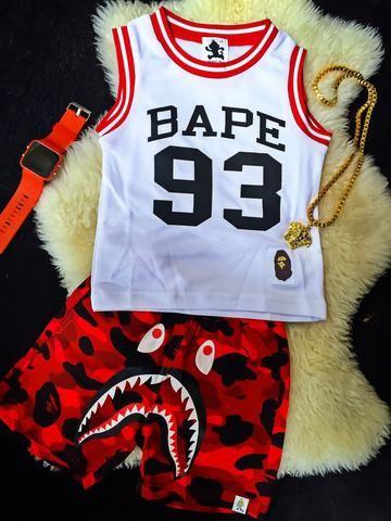 """""""Team Bape"""" Inspired Jersey White/Red/Black"""