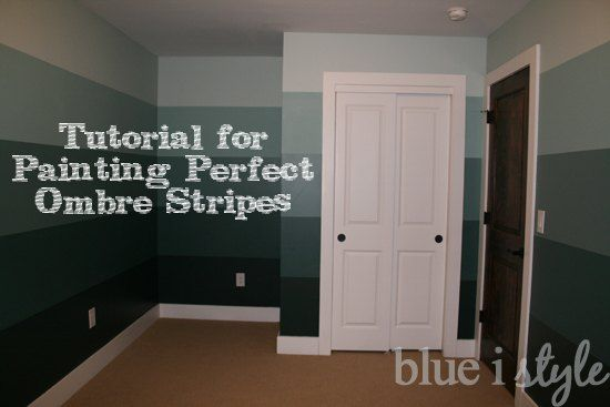 How to Paint Ombre Striped Walls {or Any Stripes}