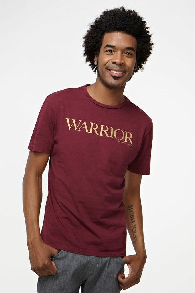 Warrior Triblend Tee in Henna by SPIRITUAL GANGSTER.