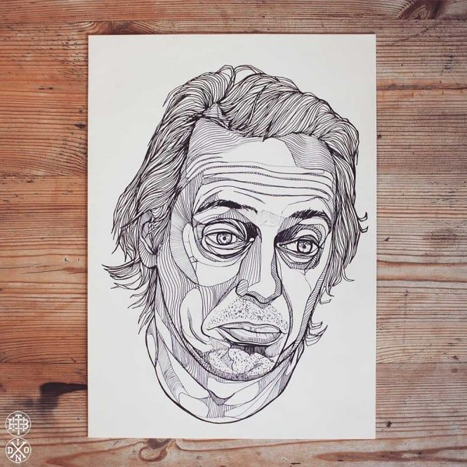 Steve Buscemi Original Ink Drawing Artwork