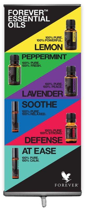 Forever Essential Oils 6 Oils Banner - Banners - Forever Tools  http://myaloevera.se/evarosendahlshop/sv/shop/category/doft