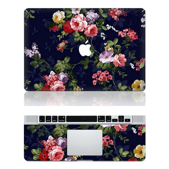 oliviabeauty etsy - flower mac decal