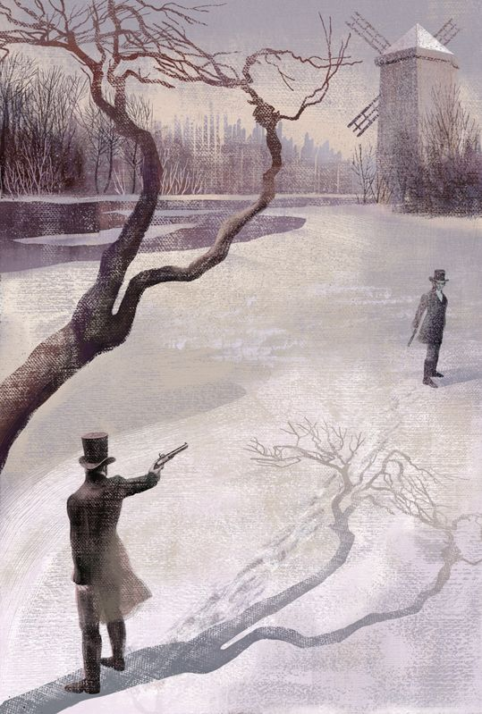 Anna & Elena Balbusso | This reminds me of the duel between Alexander Hamilton and Aaron Burr.