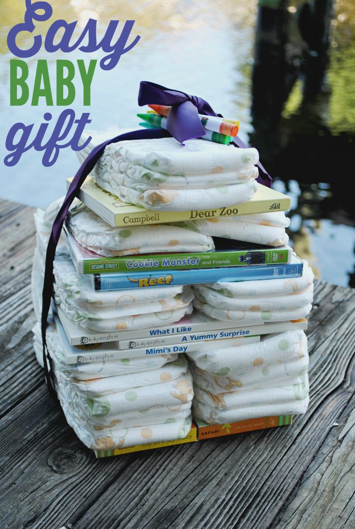 Easy Baby Gift Ideas | Diapers, Tower and Wraps