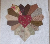 Heart Dresden block - Made this type of block for my daughter-in-law Kim's wall hanging many years ago.  She still loves it and so do I.
