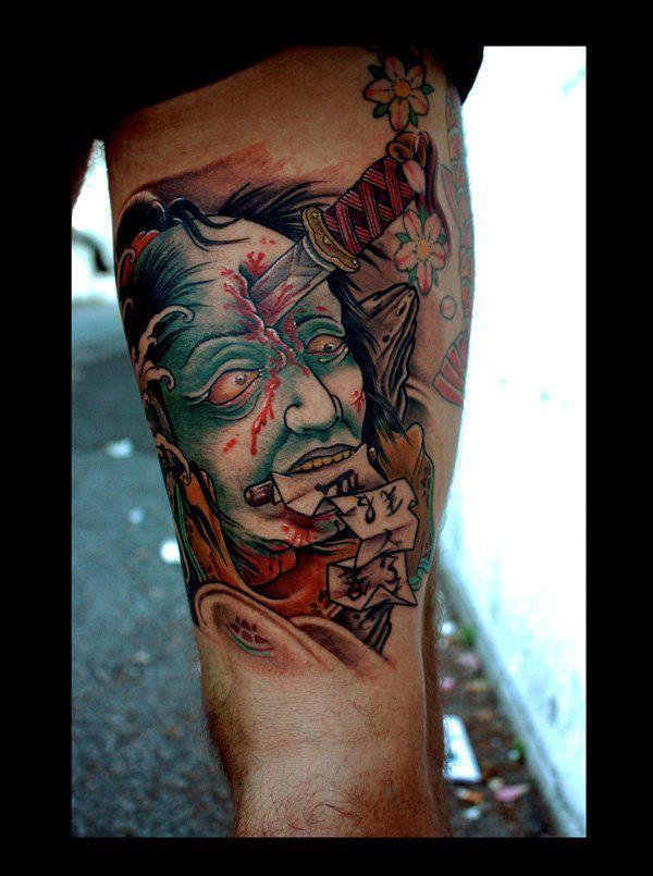 Tattooed by kostas tzikalagias dirty roses tattoo studio for Studio 42 tattoo