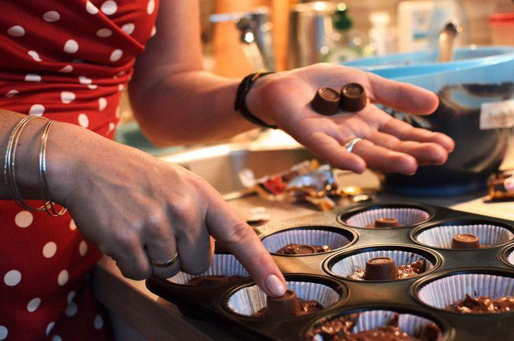 Die Herzdame backt: Double Chocolate Muffins   Herzdamengeschichten