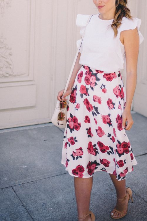 Maybe not florals, but i love the simplicity of a blouse and skirt pairing.