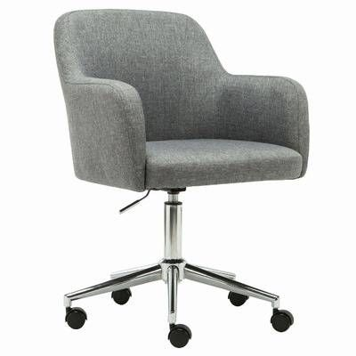 Milan Direct Grey Mid Century Style Upholstered Desk Chair   Reviews    Temple   WebsterBest 25  Upholstered desk chair ideas on Pinterest   World market  . Grey Fabric Office Chair. Home Design Ideas