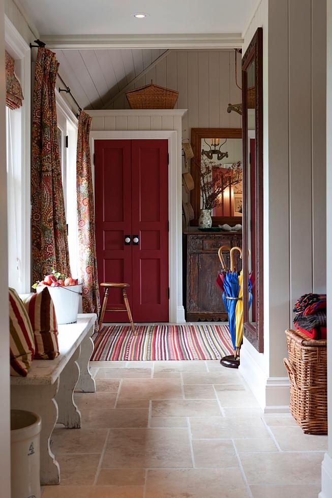 sarah richardson sarah house 3 mudroom/entry. Fabric and Colors