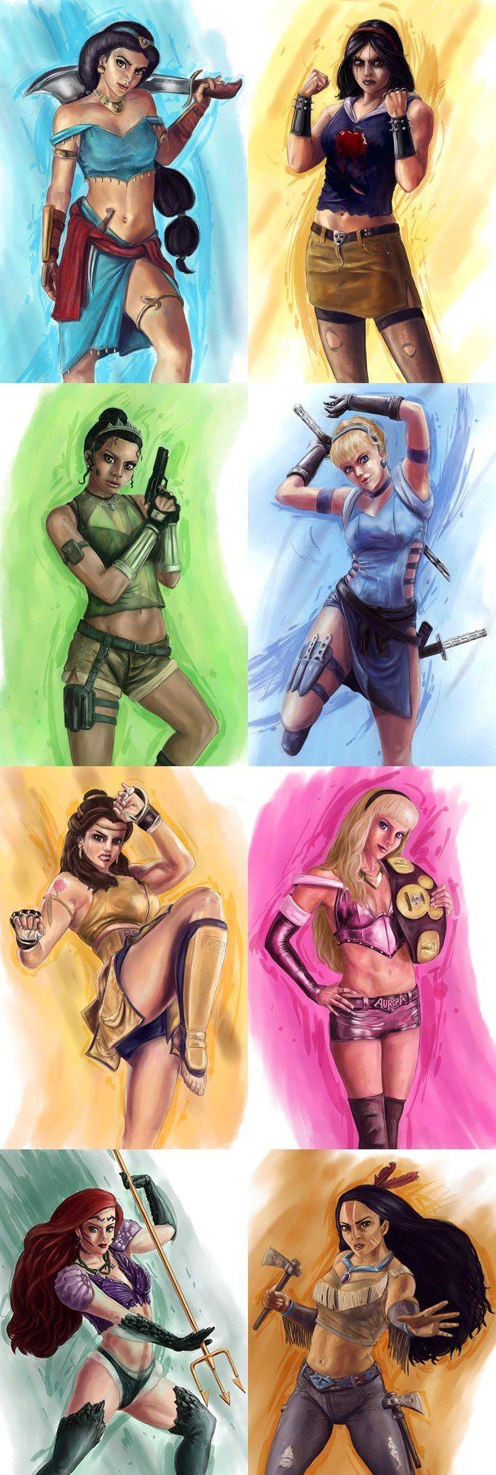 princesses-disney-guerrieres. I like the idea of badass princesses