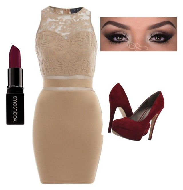 """""""Homecoming ?"""" by jnbell on Polyvore featuring AX Paris, Smashbox and Michael Antonio"""