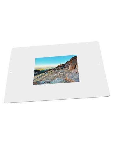 """CO Rockies View Large Aluminum Sign 12 x 18"""" - Landscape"""