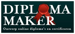 Voor een tafeltjesdiploma en een basisschool oorkonde kun je op mijn website terecht. Maar soms heb je ook diploma's nodig voor hele andere gelegenheden. Daar is de website www.diplomamaker.nl hartstikke handig voor.