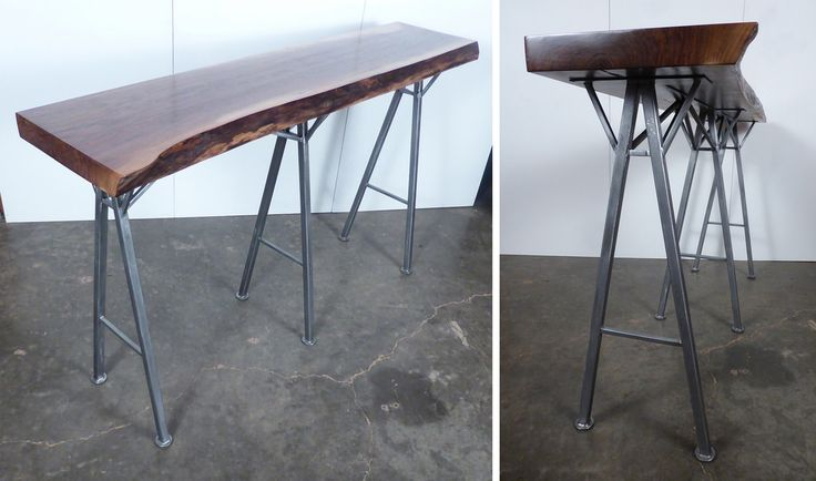 Black walnut live edge buffet table made by revision