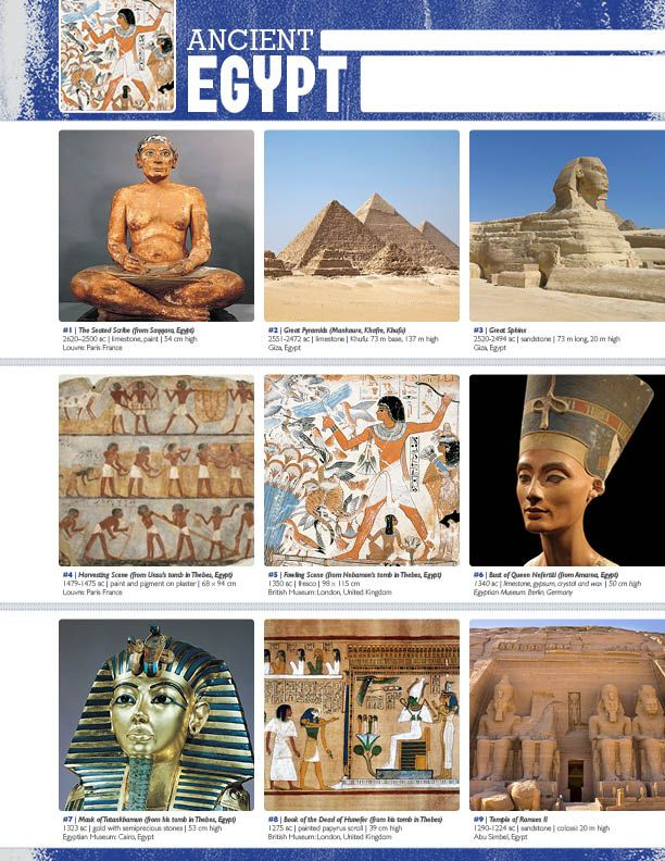 The smARTteacher Resource: ANCIENT EGYPT (Movement Binder Notes)