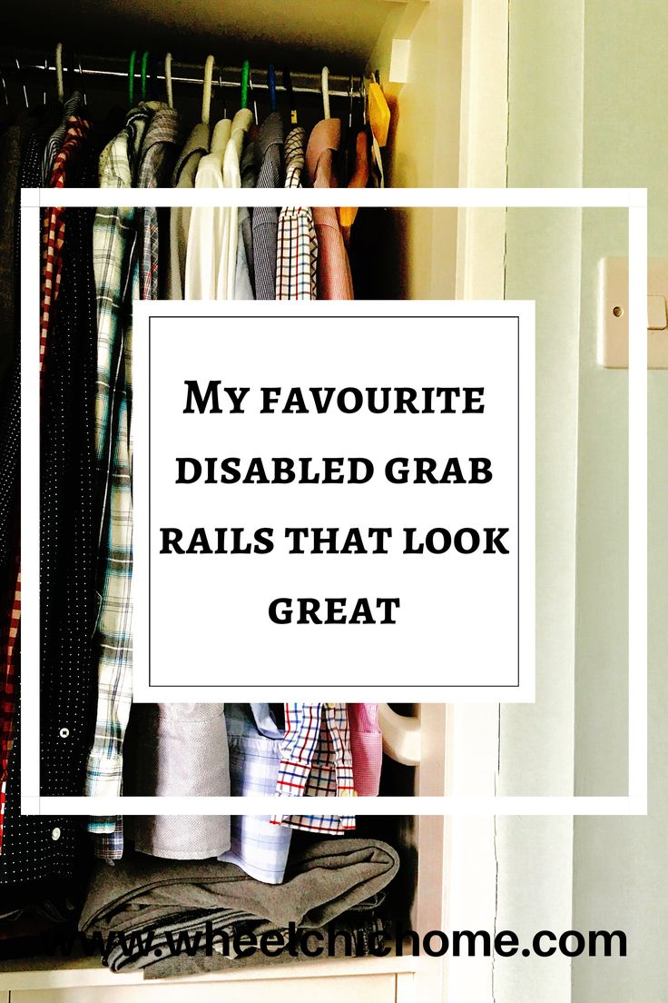 If you're looking for great disabled grab handles for the home that don't look like a grab handle then take a look at my blog post where I round up my favourite grab rails for the bathroom and the rest of the home.
