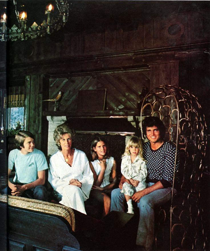 Michael Landon at home (1975)