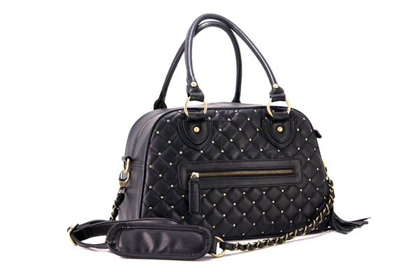 The Bossi Bag - Studded Black | dSLR Camera Bag Purse | Large | Customizable Dividers
