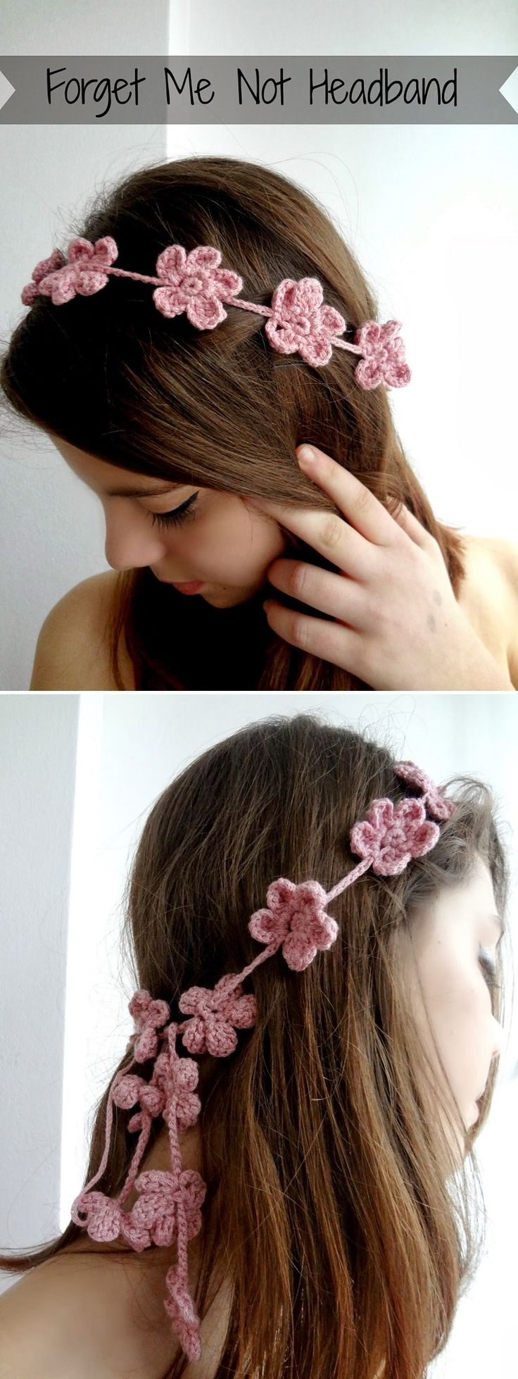 Forget Me Not Headband – Free Tutorial - 16 Easy and Free Crochet Accessories Patterns | GleamItUp