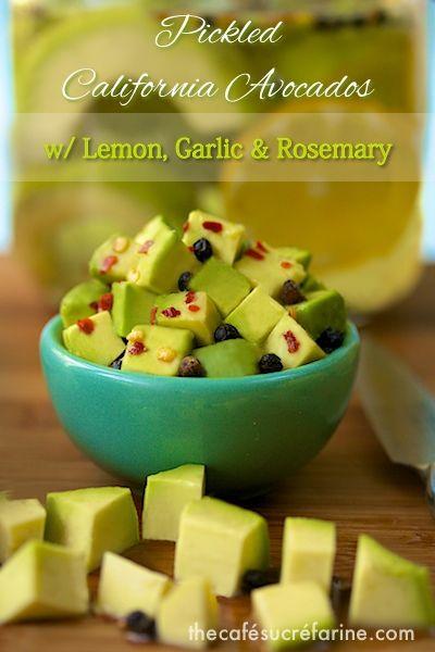 The Café Sucré Farine: Pickled California Avocados w/ Lemon, Garlic & Rosemary