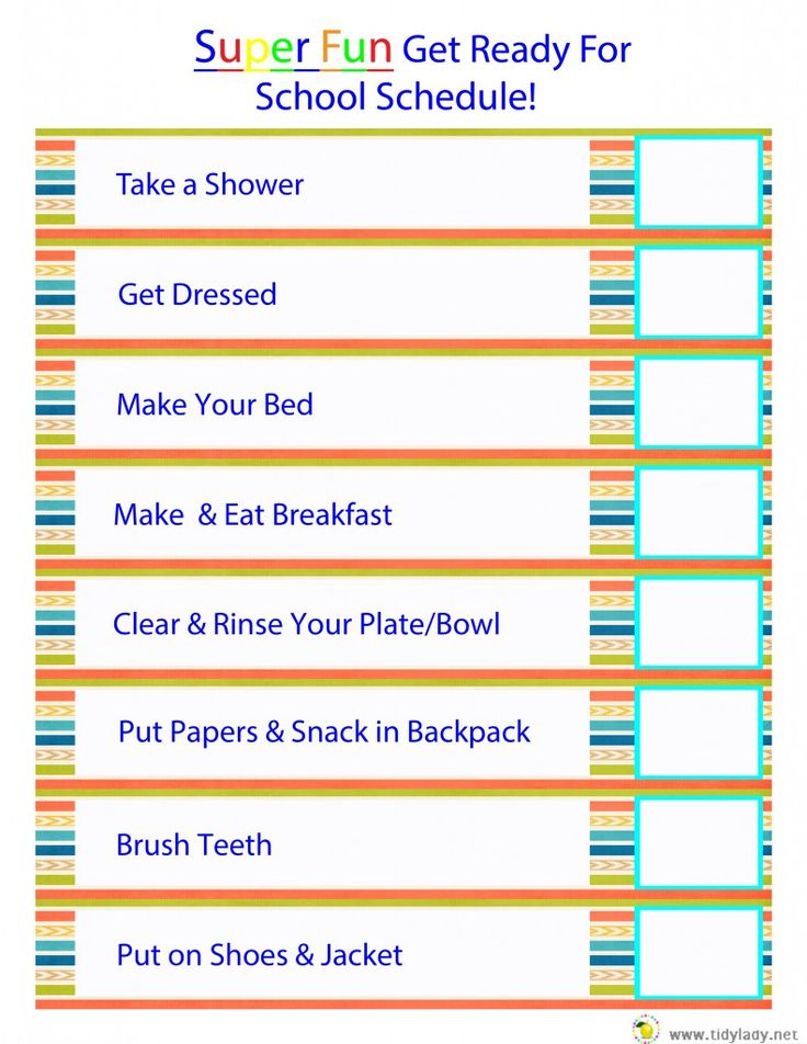 #FREE #PRINTABLE  Morning Before School Routine!