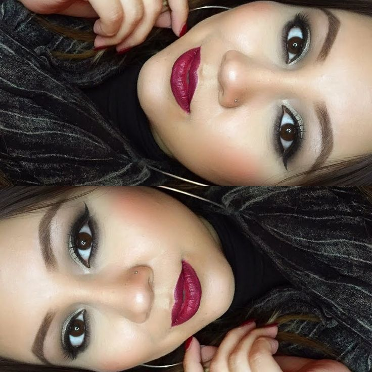 @Crisjennmakeup used fine strokes on her gifted @Tweezerman #BrushiQ to land this #Winter look