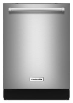 Learn about features and specifications for the 44 dBA Dishwasher with Dynamic Wash Arms and Bottle Wash (KDTM704EBS)