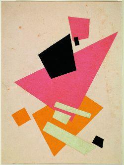 Ljubow Popowa Suprematistische Komposition, 1917 Farbiges Papier, Collage © Sepherot Foundation (Liechtenstein)
