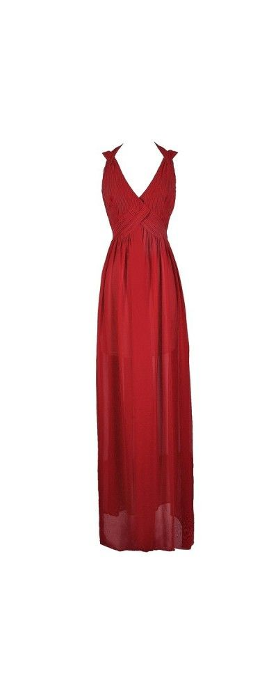 Breathtaking Beauty Chiffon Designer Maxi Dress in Red  www.lilyboutique.com