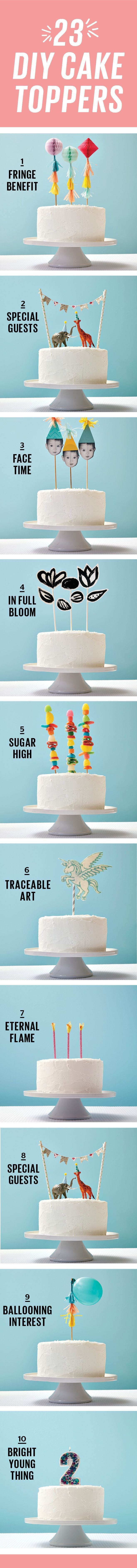 Not crafty? No problem! These DIY cake toppers are simple to make, but will really wow your guests.