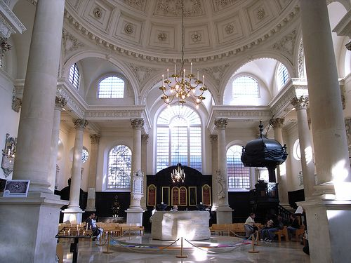 St Stephen Walbrook    Interior, St Stephen Walbrook (1672-7) by Christopher Wren