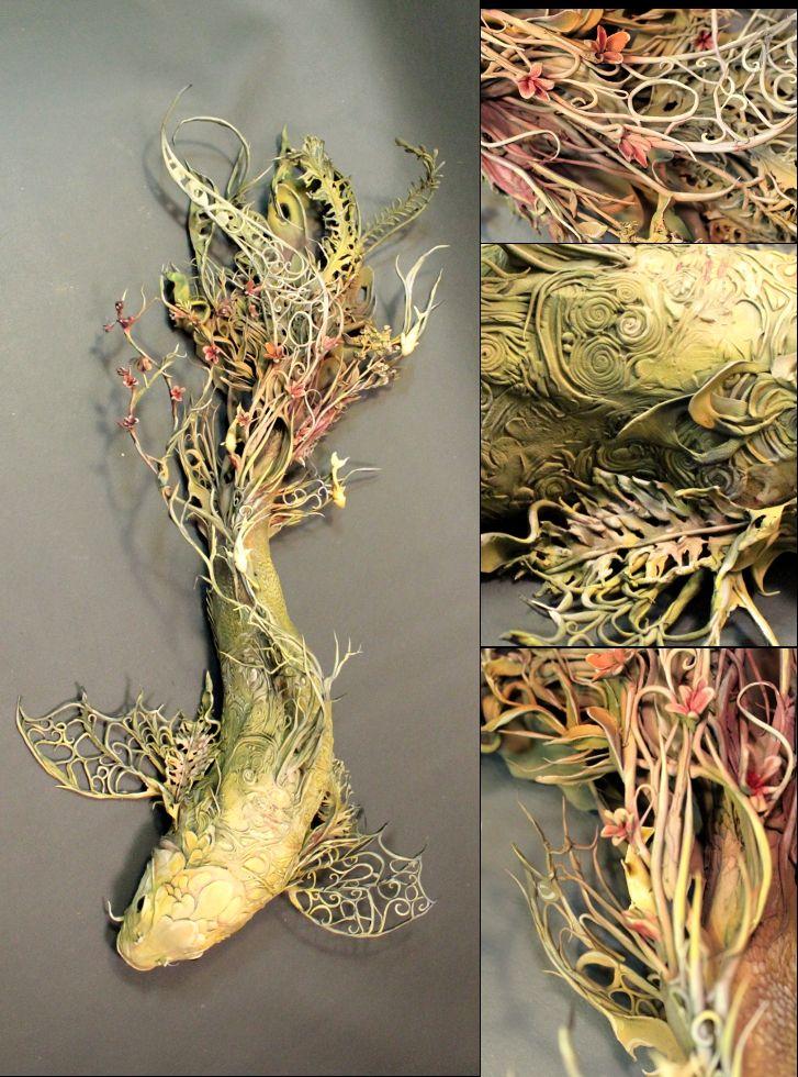 Best Ellen Jewett Sculpture Images On Pinterest Figurines - Surreal animal plant sculptures ellen jewett