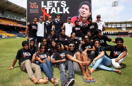 """World cricket stars unite in a call for young fans to """"get the facts"""" about HIV prevention and to help eliminate AIDS-related stigma and discrimination, through a United Nations and International Cricket Council HIV awareness raising campaign running alongside the ICC World Twenty20"""