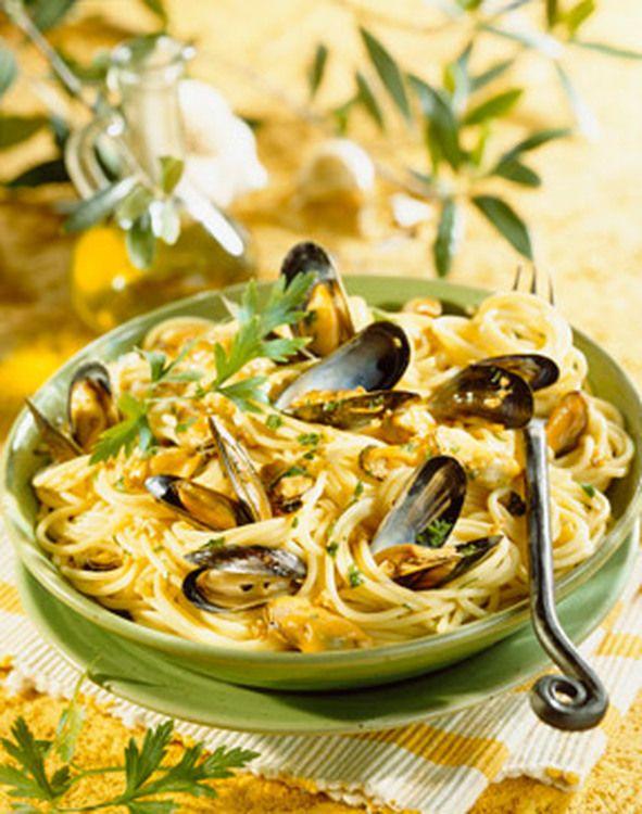Spaghettis aux moules