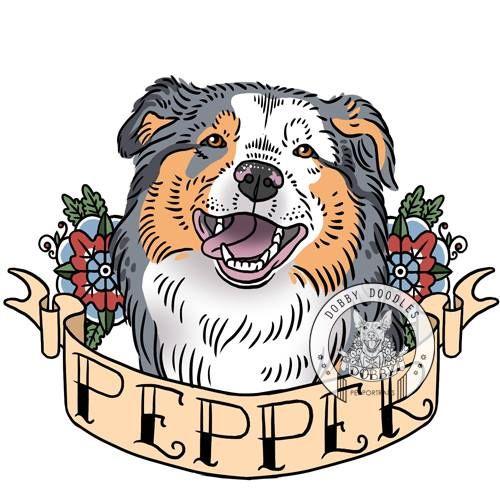 Dobby Doodles pet portraits. Old school tattoo inspired custom pet portraits. Just $25! #dog #dogtattoo #oldschooltattoo #petportrait www.dobbydoodles.com