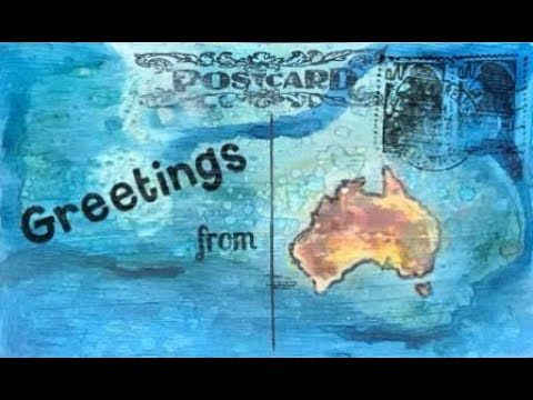 ICAD 2017 Day 54 'greetings from' #dyicad2017 #icad2017 #icad #indexcardaday #indexcard #indexcardart #greetingsfrom