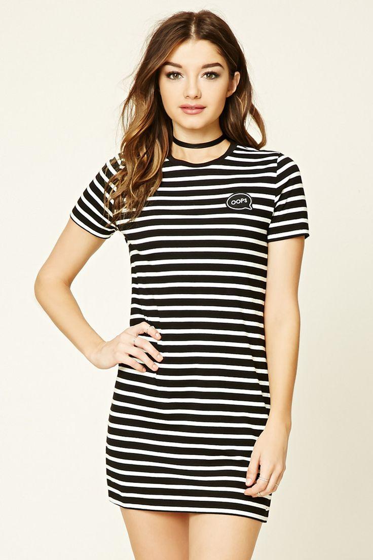Oops Striped T-Shirt Dress