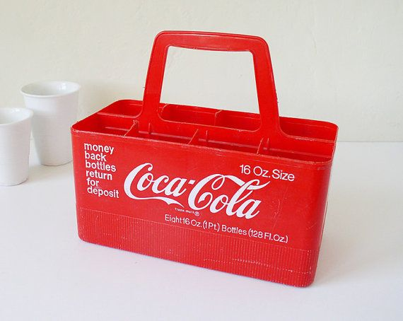 1970's PLASTIC Coca-Cola bottle caddy. Used to always try and get the bottles packed in these,