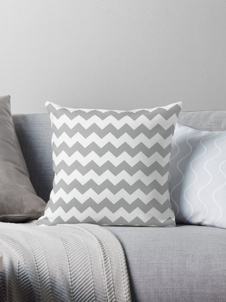 Modern Grey Chevron Pattern • Also buy this artwork on home decor, apparel, phone cases, and more.