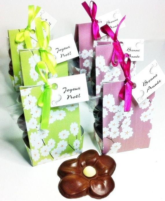 Mini-ballotin Fleur de Cerisier pour une Fleur de Cacao - By Claudia Chocolat - ALittleEpicerie.com